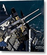 Seaman Fires Twin .50 Caliber Machine Metal Print