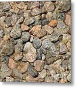 Seamless Background Gravel Stones Metal Print
