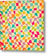 Seamless Color Mosaic Background Metal Print