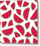 Seamless Colorful Pattern With Red Metal Print