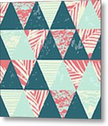Seamless Exotic Pattern With Palm Metal Print