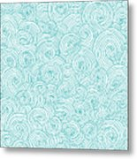 Seamless Pattern Of Doodle Swirls And Metal Print