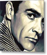 Sean Connery Artwork Metal Print