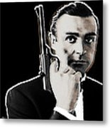 Sean Connery James Bond Square Metal Print