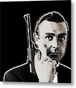 Sean Connery James Bond Vertical Metal Print
