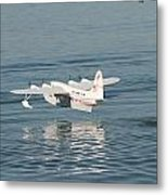 Seaplane Liftoff Metal Print