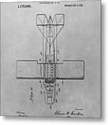 Seaplane Patent Drawing Metal Print