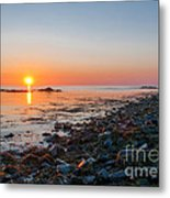 Seapoint Beach In  Kittery Point Maine Metal Print