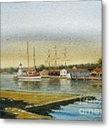 Seaport Lighthouse Metal Print