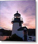 Seaport Nightlight Metal Print