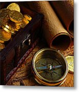 Searching For The Gold Treasure Metal Print