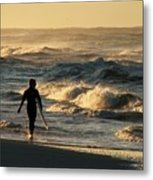 Searching For The Perfect Wave Metal Print
