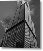 Sears Willis Tower Black And White 01 Metal Print