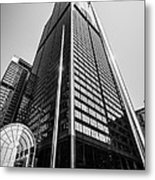 Sears Willis Tower Chicago Black And White Picture Metal Print