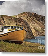 Seasacape With Boat Metal Print