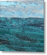 Seascape Abstract Metal Print