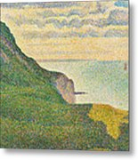 Seascape At Port En Bessin Normandy Metal Print by Georges Seurat