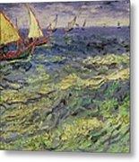 Seascape At Saintes-maries 1888 Metal Print