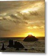 Seascape Oregon Coast 2 Metal Print
