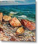 Seascape - Red Rocks  Metal Print