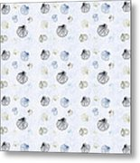 Seashell Pattern Metal Print