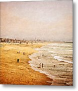 Seashore At Manhattan Beach Metal Print