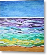 Seashore Blue Sky Metal Print