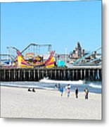Seaside Casino Pier Metal Print