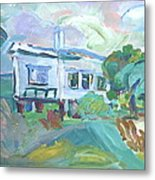 Seaside Cottage Metal Print