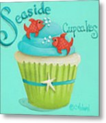 Seaside Cupcakes Metal Print