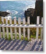 Seaside Fence Metal Print