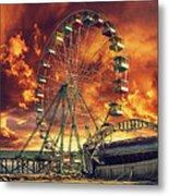 Seaside Ferris Wheel Metal Print by Kim Zier