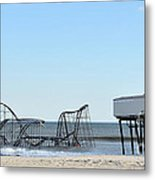 Seaside Heights Jetstar Metal Print