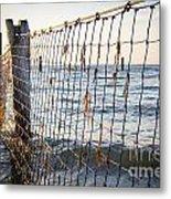 Seaside Nets Metal Print
