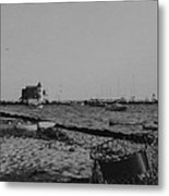 Seaside Park Nj Yacht Club Bw Metal Print
