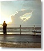 Seaside Person Metal Print