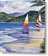 Seaside Sails Metal Print by John Zaccheo