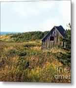 Seaside Shed - September Metal Print
