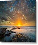 Seaside Sunset - Square Metal Print