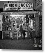 Seaside Union Jacks Metal Print by David Riccardi