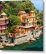 Seaside Villas Metal Print by Dan Breckwoldt