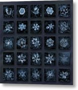 Snowflake Collage - Season 2013 Dark Crystals Metal Print