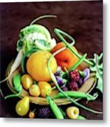 Seasonal Fruit And Vegetables Metal Print