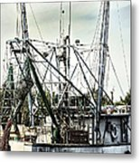 Seasoned Fishing Boat Metal Print by Debra Forand