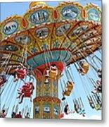 Seaswings At Santa Cruz Beach Boardwalk California 5d23897 Metal Print by Wingsdomain Art and Photography