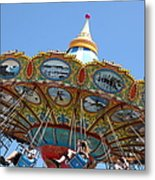 Seaswings At Santa Cruz Beach Boardwalk California 5d23907 Metal Print
