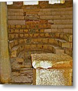 Seats For The Elders And Podium In Church Of Saint Nicholas In Myra-turkey Metal Print