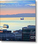 Seattle And Elliott Bay Metal Print