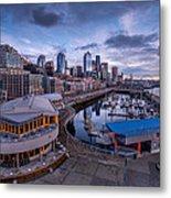 Seattle Bell Street Pier Metal Print
