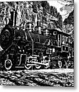 Seattle City Light Train In Bw Metal Print